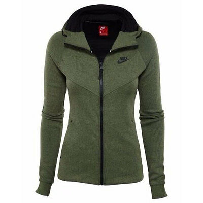 c48fd7b53f4 842845-387 NIKE SPORTSWEAR Tech Fleece (Palm Green/Heather/Black) Women's  Jacket
