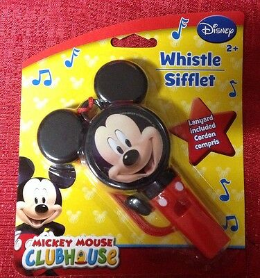 Disney MICKEY MOUSE CLUBHOUSE Whistle With Lanyard  Musical Instrument BRAND NEW
