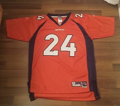 Denver Broncos Nfl Football Jersey, Xl (18-20), #24 Bailey, New, Sewn On Numbers