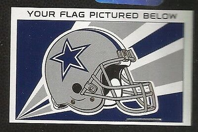 Dallas Cowboys, Nfl Football, Banner/flag, 3' X 5', New / Sealed, 100% Polyester