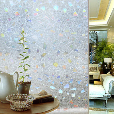 Homewell 3D No Glue Static Decorative Privacy Glass Window Film 90x200CM