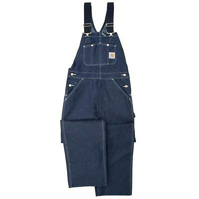 New Carhartt Denim Workwear Unlined Bib Overalls All Sizes Men's Free Shipping