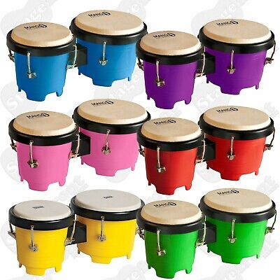 Mano Percussion Tunable Mini Bongos - *choose Colour* - Plastic With Tuning Key