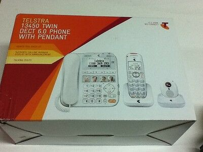 Telstra 13450 Twin DECT 6.0 Phone with Pendant