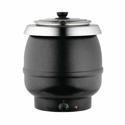 Dualit Soup Kettle in Graphic Black with Stainless Steel Hinged Lid - 10 L