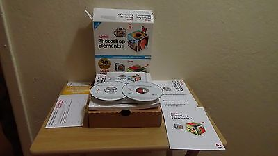 2007 Adobe Photoshop Elements 6/ Adobe Premiere Elements 4 w/Keys Big Box