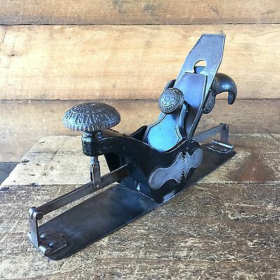 Antique STANLEY USA No:113 TYPE 1 COMPASS PLANE Vintage Old Hand Tool  #182