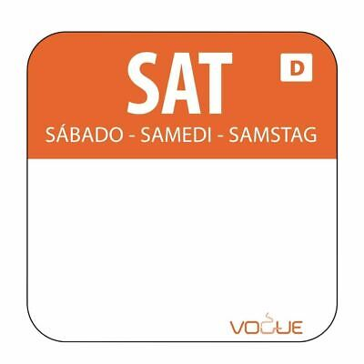 Vogue Dissolvable Saturday Food Safety Day Labels - 20mm Pack of 1000