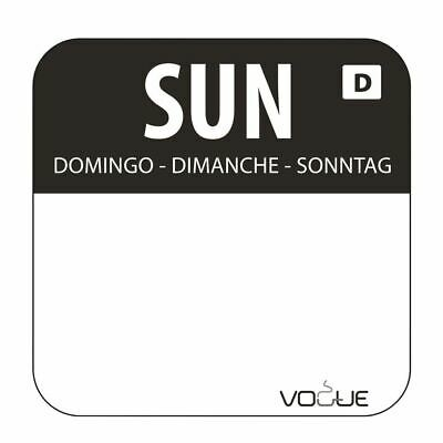 Vogue Dissolvable Sunday Food Safety Day Labels - 20mm Pack of 1000