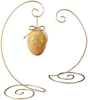 Ornament Stand Gold  Large Spiral Bottom