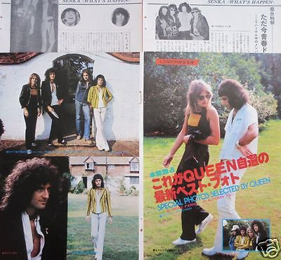 Queen Freddie Mercury Roger Taylor Brian May 1975 Clipping Japan Os 11A 5Page