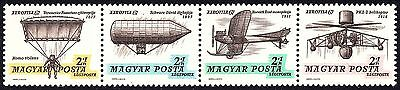 Hungary 1967 Airmail Stamps Exhibition AEROFILA `67 Strip of stamps  MNH