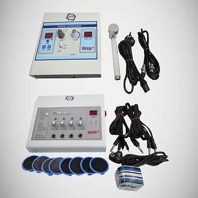 New electrotherapy 4ch + Ultrasound therapy pain relief physiotherapy QWE43