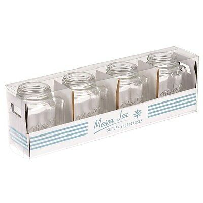 dotcomgiftshop SET OF 4 MASON SHOT GLASSES