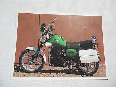 Motorcycle - MZ 500 - 1 cylinder, police motorcycle, 500 cm3 - Postcard (1).