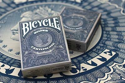 CARTE DA GIOCO BICYCLE SILVER CERTIFICATE ,formato poker