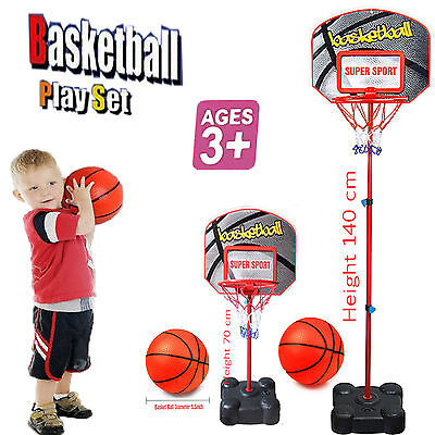 Kids Free Standing Basketball Adjustable Stand Backboard Hoop Net Toy Set Medium