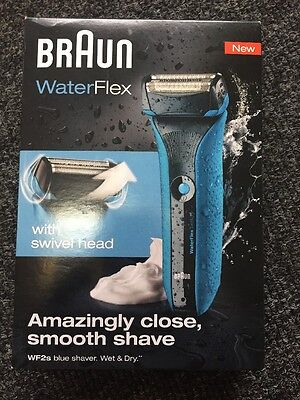 Braun Waterflex WF2s Men's Electric Shaver Wet and Dry Rechargeable NEW
