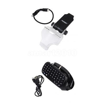 Mini Bluetooth Wireless Keyboard & Phone Clamp for PS4 PlayStation 4 Game