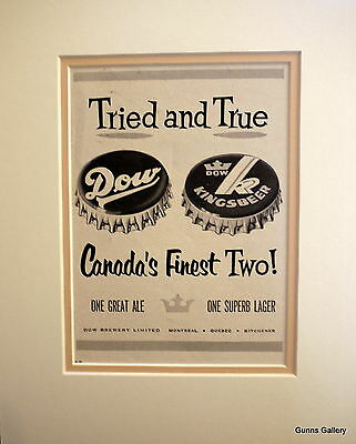 Original Vintage Advert mounted ready to frame Lager Canada finest two 1950's