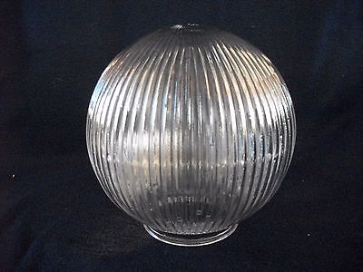 How do you replace a glass globe in a light fixture?