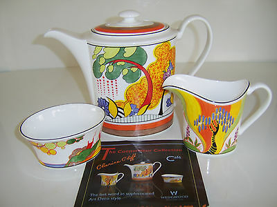 Mint Wedgwood Clarice Cliff CONNOISSEUR COLLECTION COFFEE SET Limited Ed