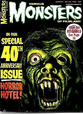 Warren Magazine Famous Monsters Of Filmland #40 Vfn Condition