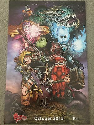 SDCC 2015 American Dad Warcraft WoW TBS Promo Poster Rare Rodger