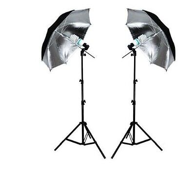 Ex-Pro Continuous Dual Photography Lighting Kit - Black/Silver
