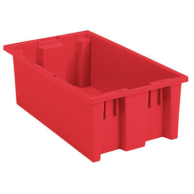 Akro-Mils Nest & Stack Tote 35180 Red 18 x 11 x 6  6 pk