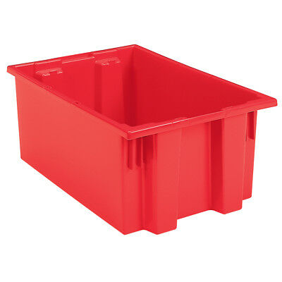 Akro-Mils Nest & Stack Tote 35190 Red 19-1/2 x 15-1/2 x 10  6 pk
