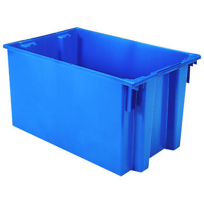 Akro-Mils Nest & Stack Tote 35300 Blue 29-1/2 x 19-1/2 x 15  3 pk
