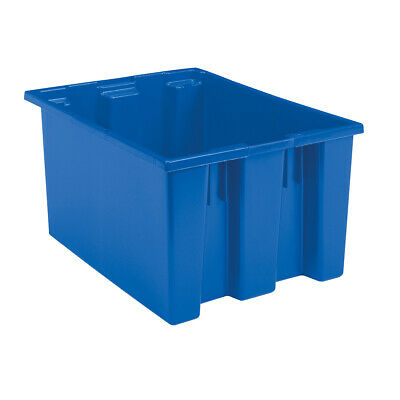 Akro-Mils Nest & Stack Tote 35230 Blue 23-1/2 x 19-1/2 x 13  3 pk