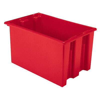 Akro-Mils Nest & Stack Tote 35240 Red 23-1/2 x 15-1/2 x 12  3 pk