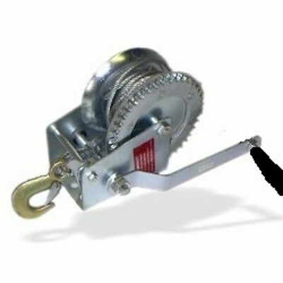 Brand New 1,200 Lb. Geared Hand Winch With Cable , Free Shipping !!!!