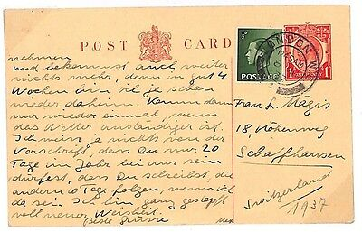 S81 1937 GB *LONDON* 4Kings E VIII Postcard {samwells-covers}PTS
