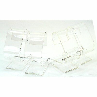 4 Clear Acrylic Watch Displays Stands Showcases