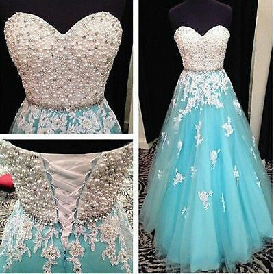 New Long Wedding Evening Formal Party Ball Gown Prom Bridesmaid Dress Size:6-16