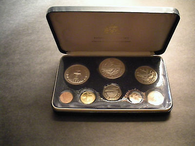 1974 Barbados 8-Coin Set with 1.927 oz Silver Franklin Mint