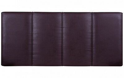 A New Sweet Dreams Opera Brown Faux Leather Padded Headboard *double*