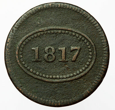 1817 'Paid' Theatre Token ~ United States / New York Theater Check