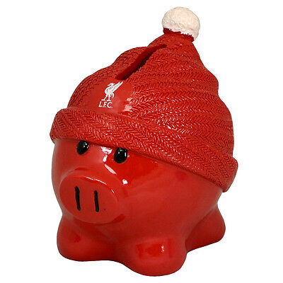 Official Licensed Football Product Liverpool FC Beanie Piggy Bank Coin Gift New