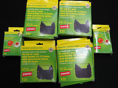 Lot Of Correctable Ribbon For Typewriter Black And Correction Tape Staples