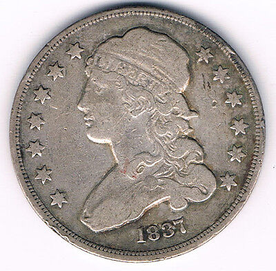 1837 Fine Bust quarter -  Lovely type piece in silver