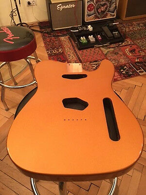 "Telecaster Body Alder "" Amber gold metallic ""  one off WOW"