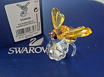 ***Swarovski 2017 BUMBLEBEE ON FLOWER Annual Edition Event Piece (Colorful)