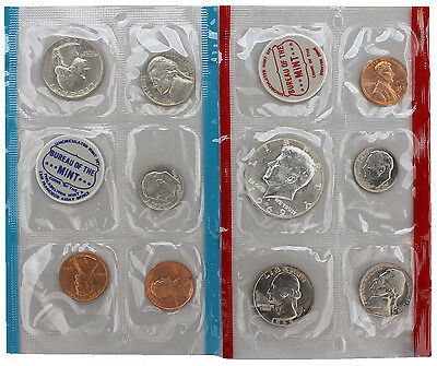 1969 P & D Mint Set with Original Envelope Brilliant Uncirculated Coins