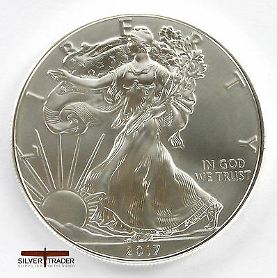 2017 1oz American Silver Eagle 1 ounce Silver Bullion Coin unc: