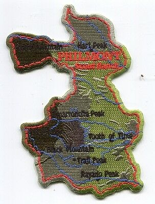 Patch From Philmont Scout Ranch-Philmont Map-Black Letters