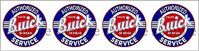 (4) 1.25 Inch Buick Service Decal Sticker Several Sizes Available